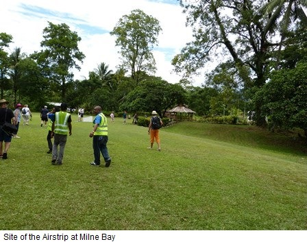 The Milne Bay Airstrip site